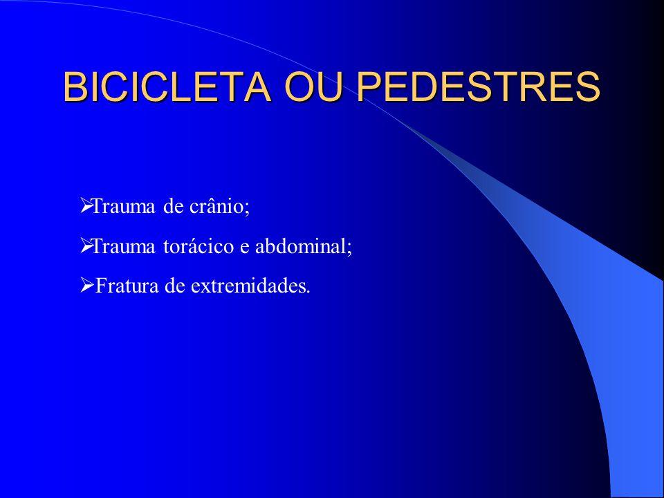BICICLETA OU PEDESTRES
