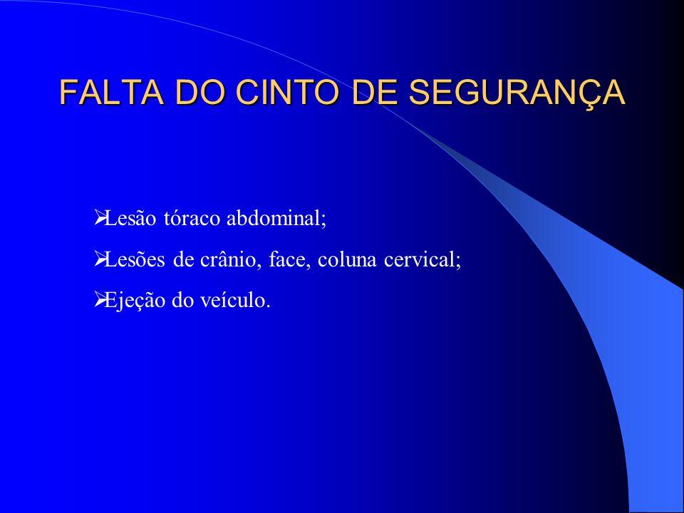 FALTA DO CINTO DE SEGURANÇA