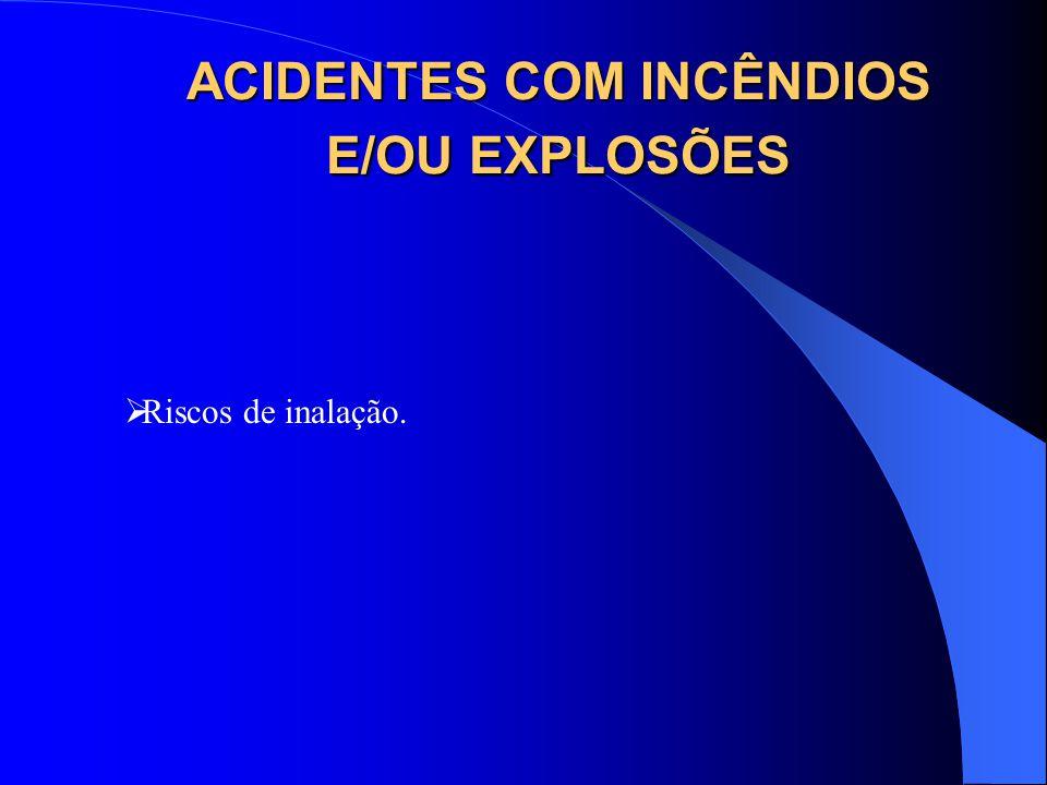 ACIDENTES COM INCÊNDIOS E/OU EXPLOSÕES