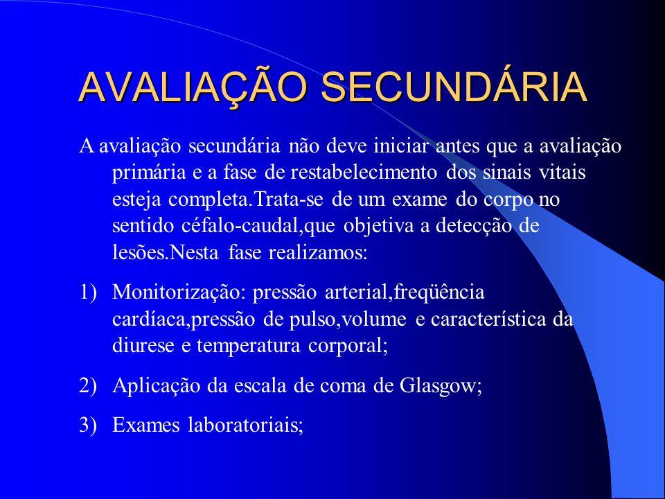 AVALIAÇÃO SECUNDÁRIA