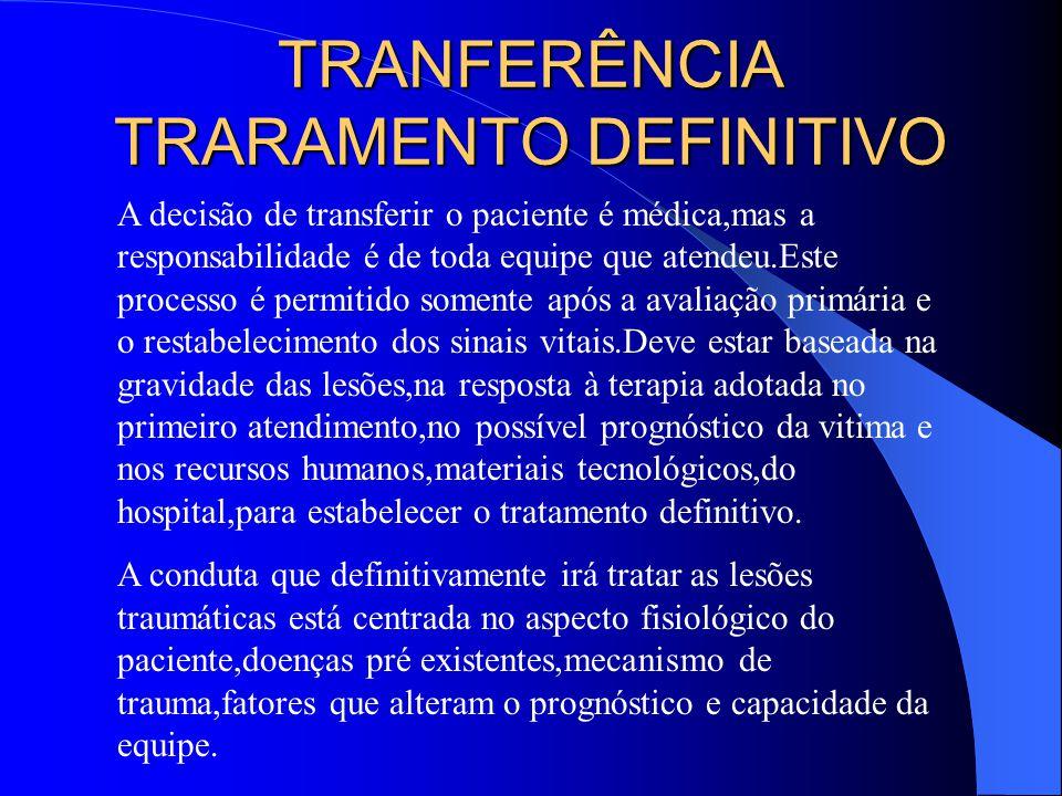TRANFERÊNCIA TRARAMENTO DEFINITIVO