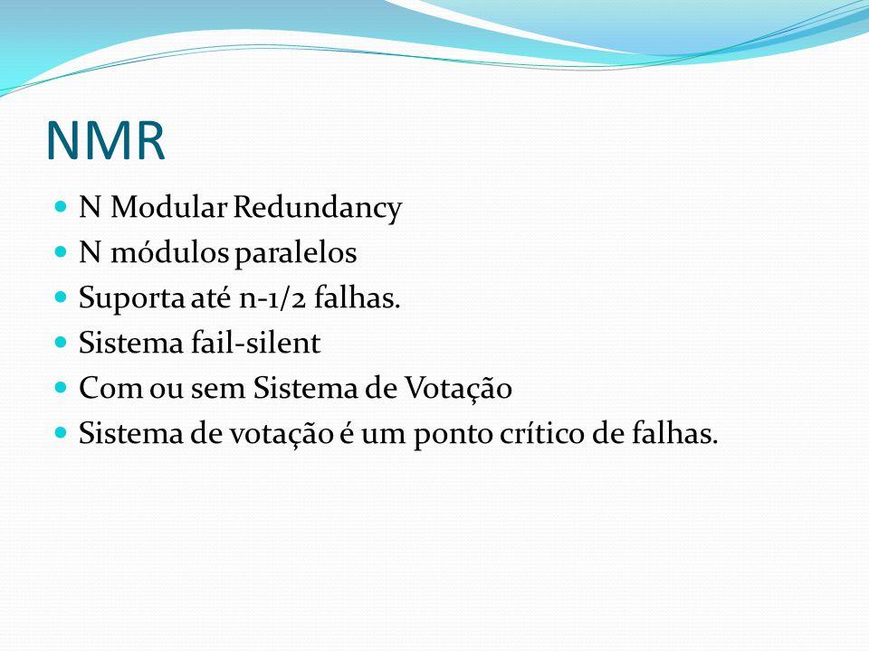 NMR N Modular Redundancy N módulos paralelos Suporta até n-1/2 falhas.
