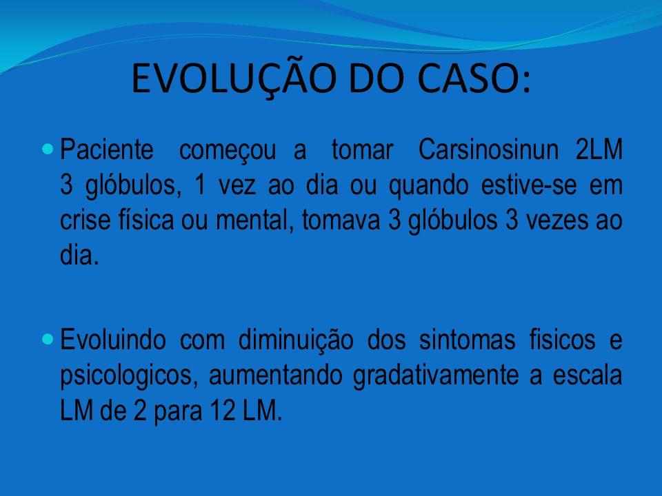 EVOLUÇÃO DO CASO: