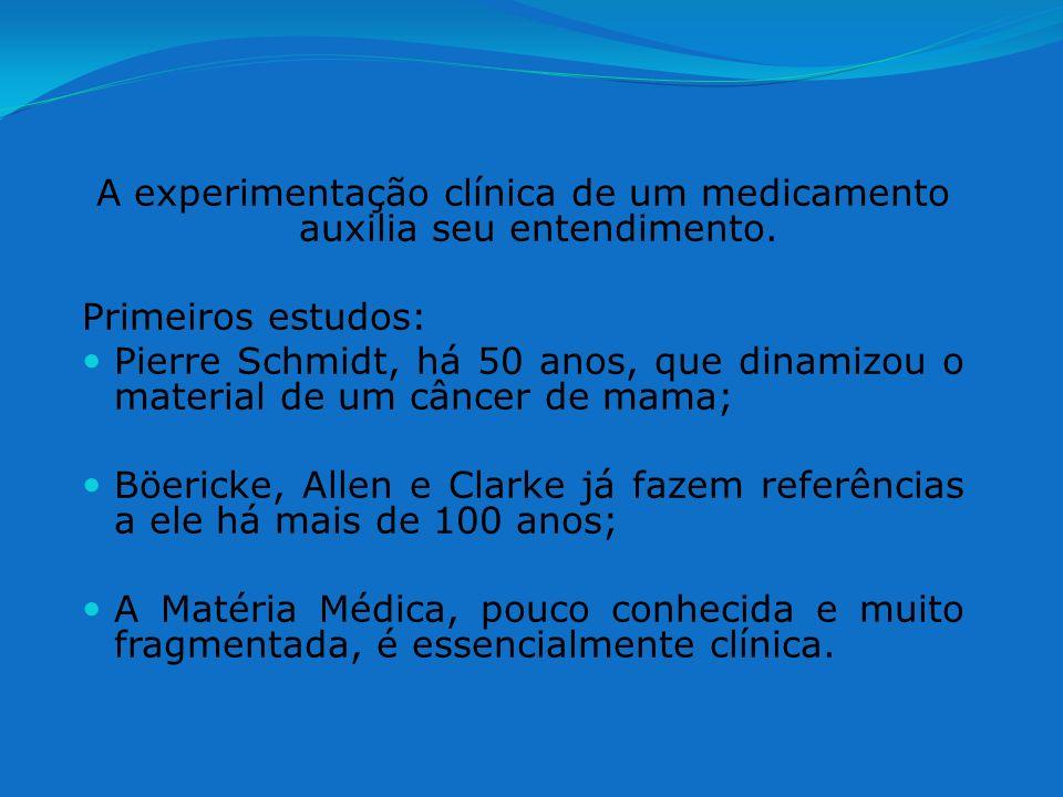 A experimentação clínica de um medicamento auxilia seu entendimento.