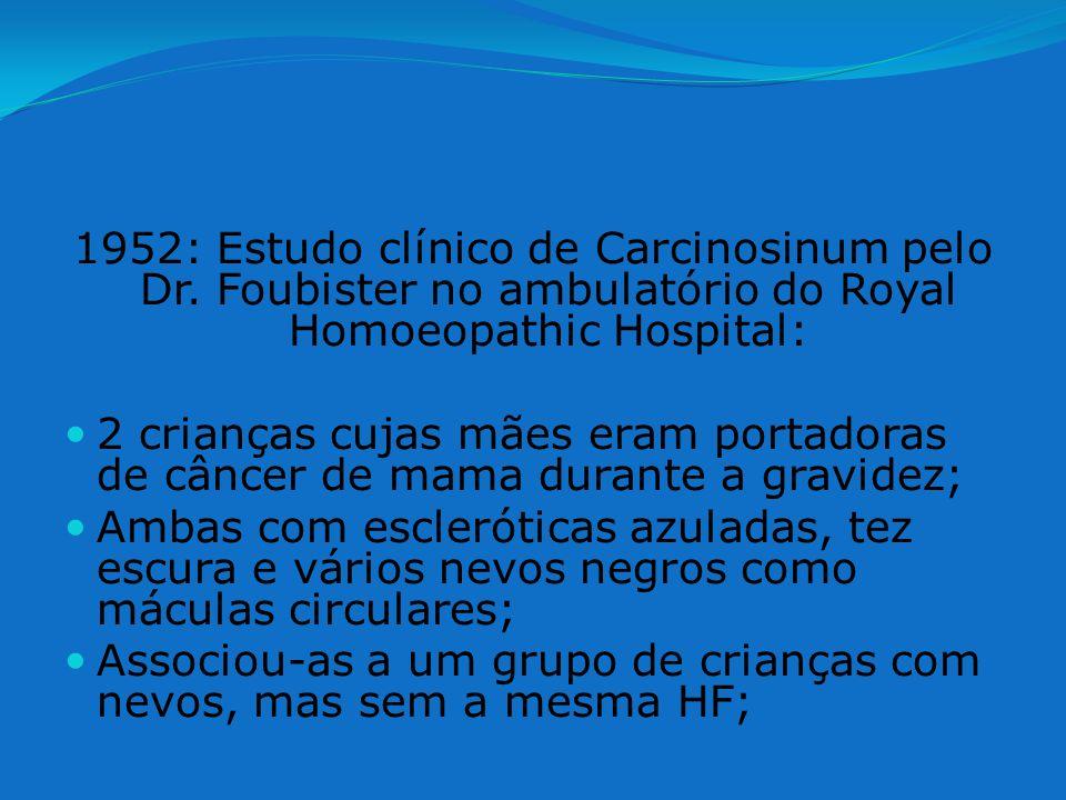 1952: Estudo clínico de Carcinosinum pelo Dr