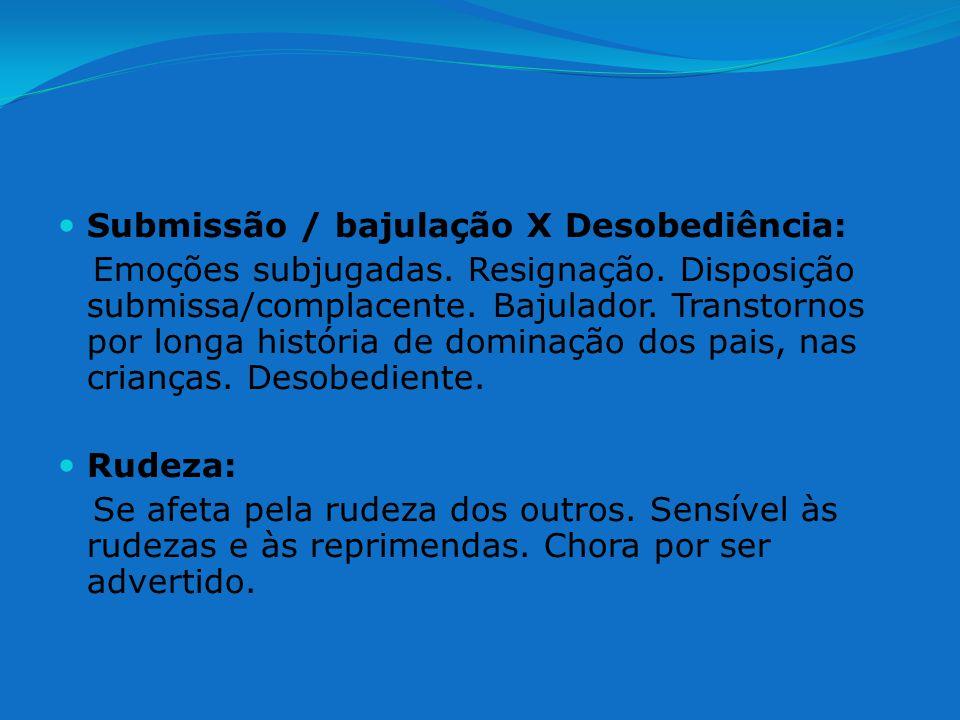 Submissão / bajulação X Desobediência:
