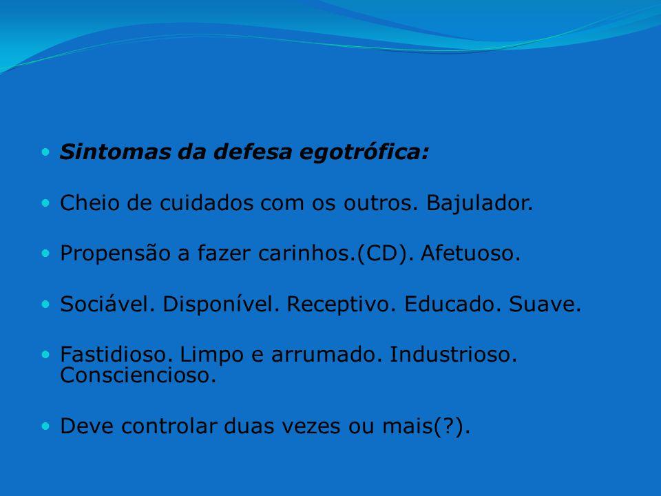 Sintomas da defesa egotrófica: