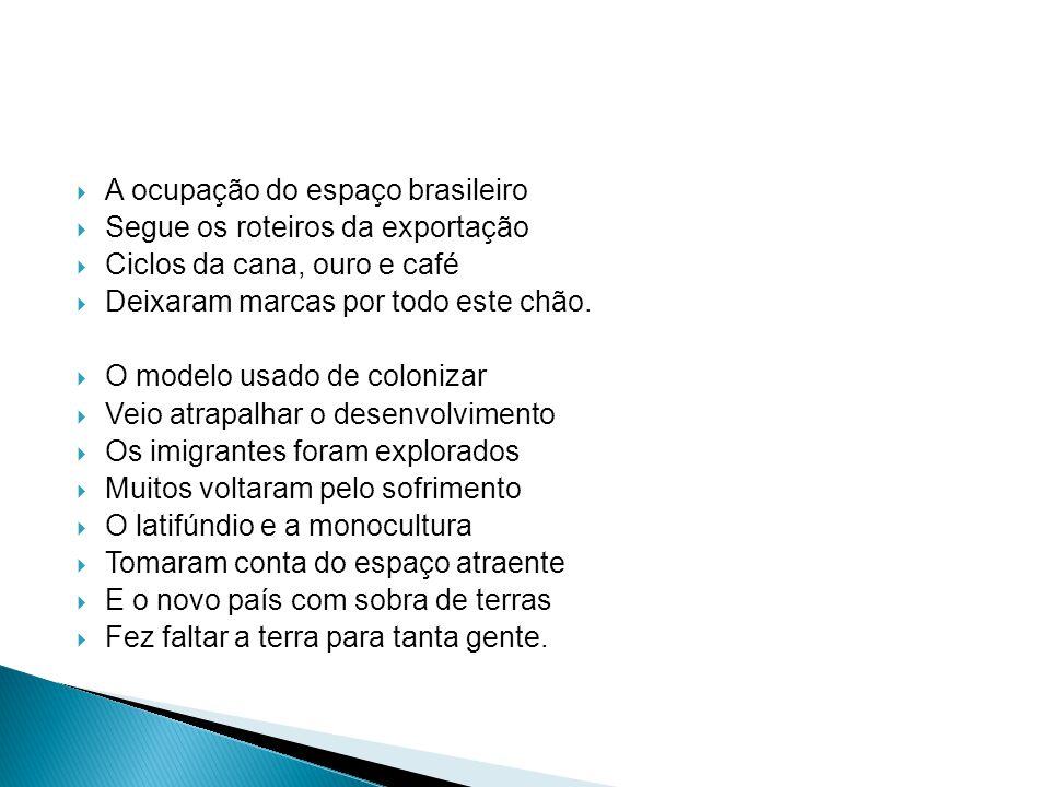 A ocupação do espaço brasileiro