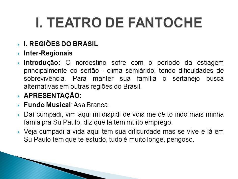 I. TEATRO DE FANTOCHE I. REGIÕES DO BRASIL Inter-Regionais