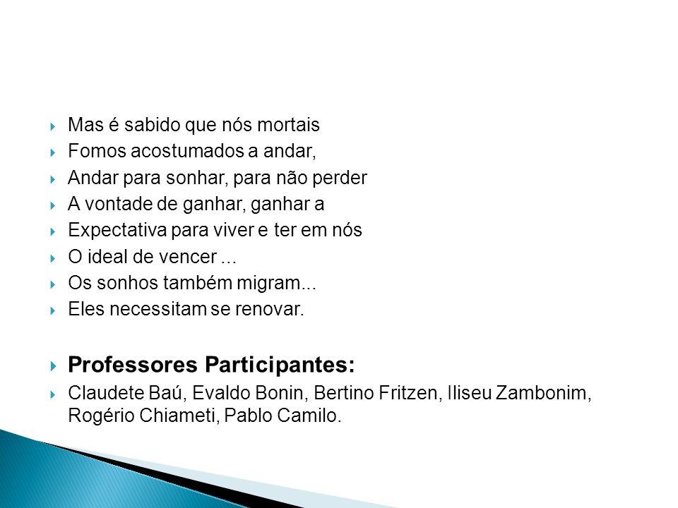 Professores Participantes: