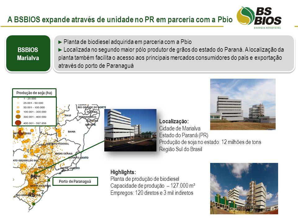 A BSBIOS expande através de unidade no PR em parceria com a Pbio