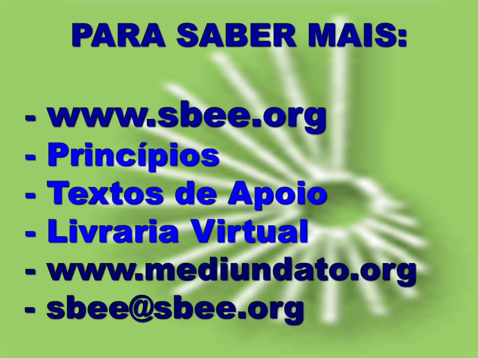 - www.sbee.org - Princípios - Textos de Apoio - Livraria Virtual