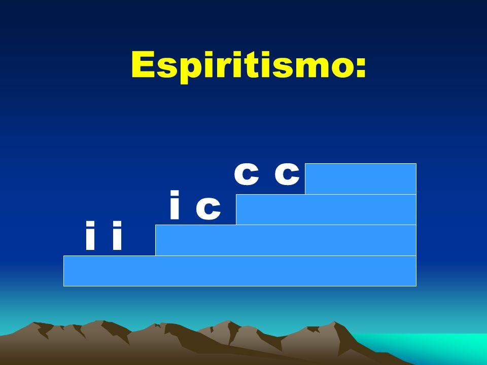 Espiritismo: c c i c i i