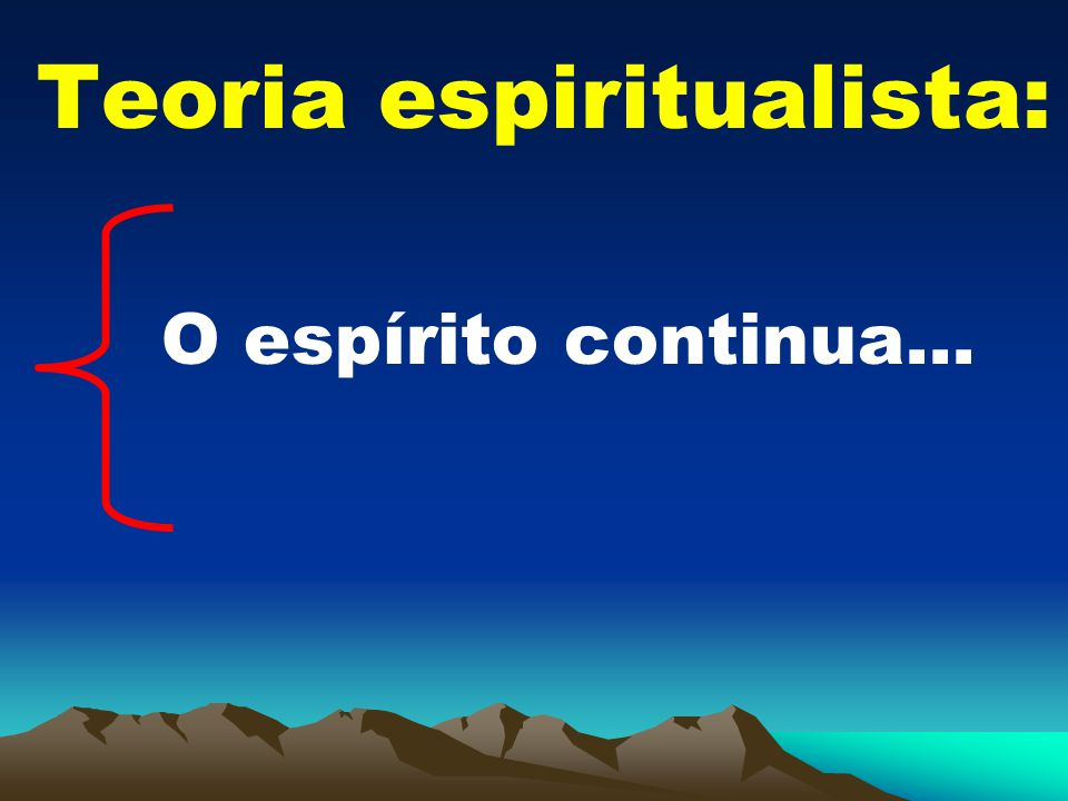 Teoria espiritualista: