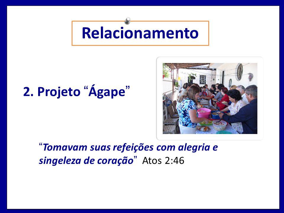 Relacionamento 2. Projeto Ágape