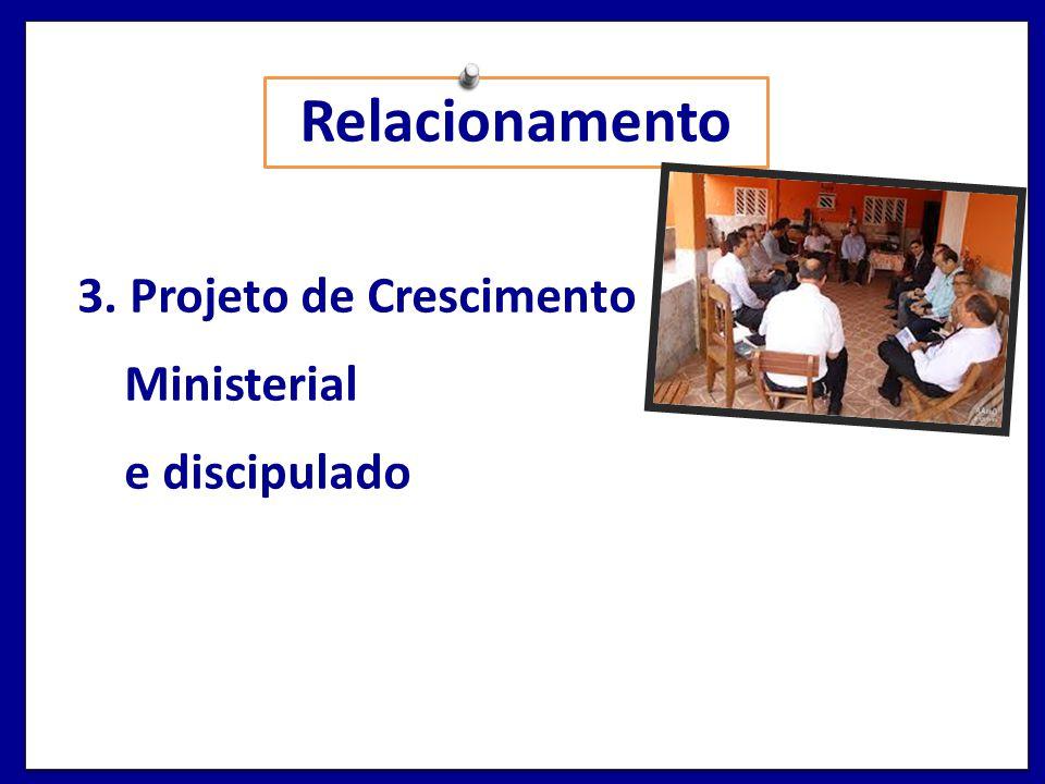 Relacionamento 3. Projeto de Crescimento Ministerial e discipulado
