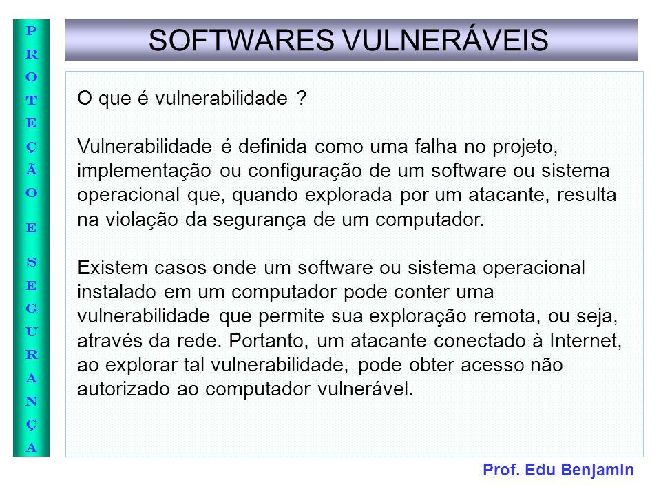 SOFTWARES VULNERÁVEIS
