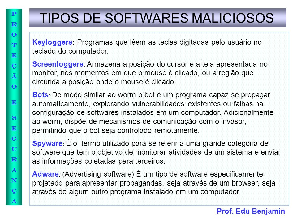 TIPOS DE SOFTWARES MALICIOSOS