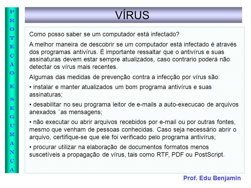 VÍRUS Como posso saber se um computador está infectado