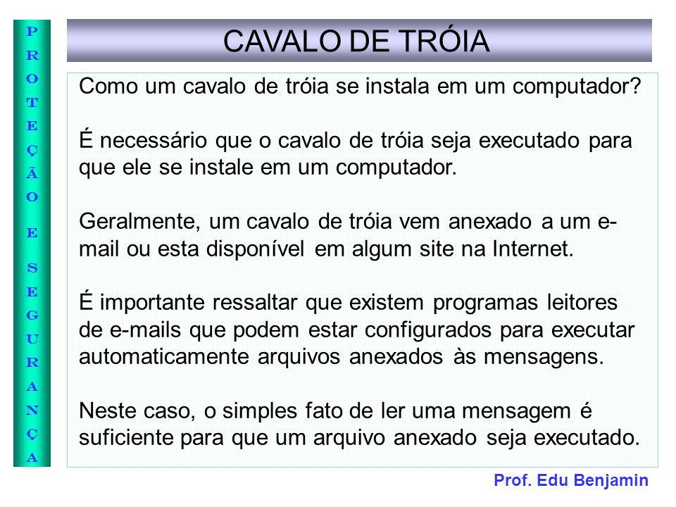 CAVALO DE TRÓIA Como um cavalo de tróia se instala em um computador