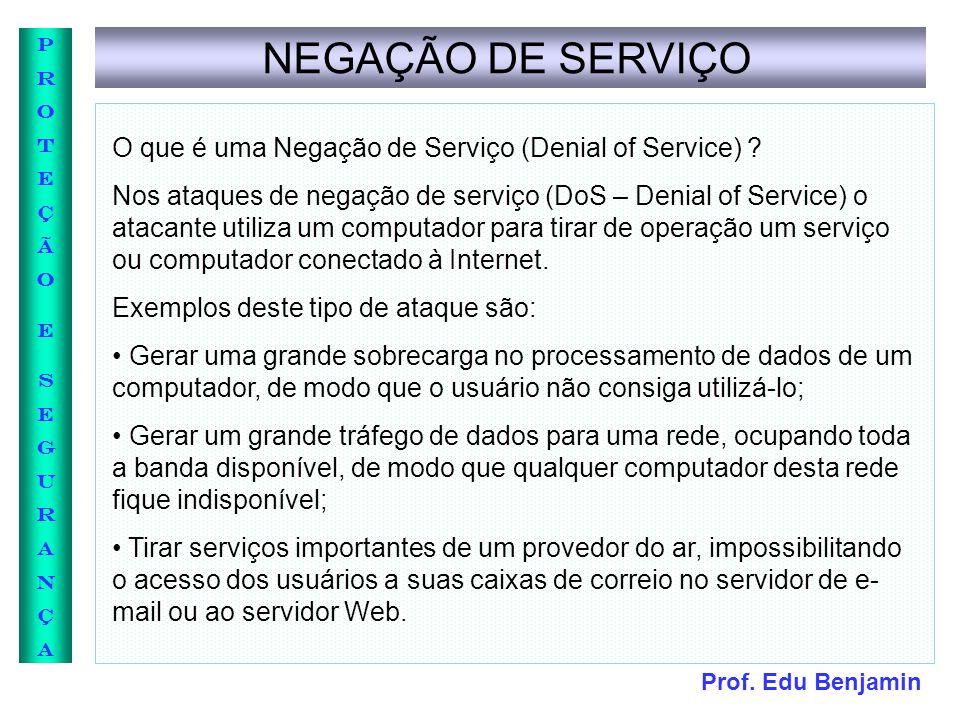 NEGAÇÃO DE SERVIÇO O que é uma Negação de Serviço (Denial of Service)