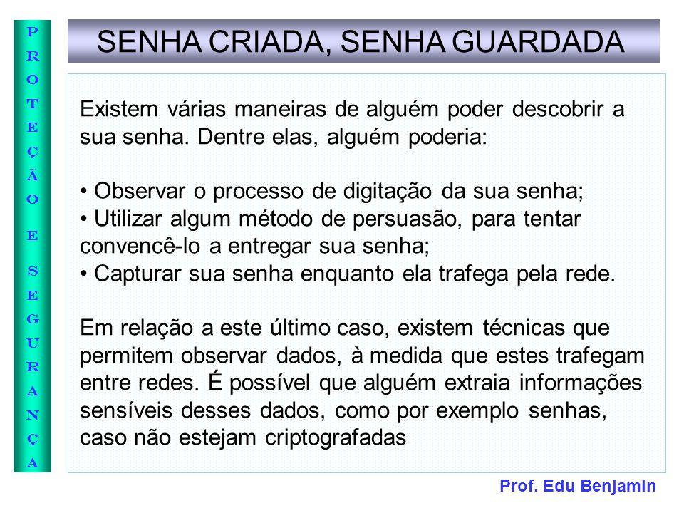 SENHA CRIADA, SENHA GUARDADA