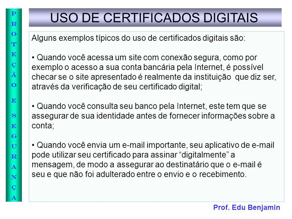 USO DE CERTIFICADOS DIGITAIS