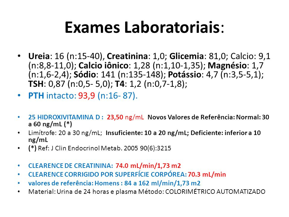 Exames Laboratoriais: