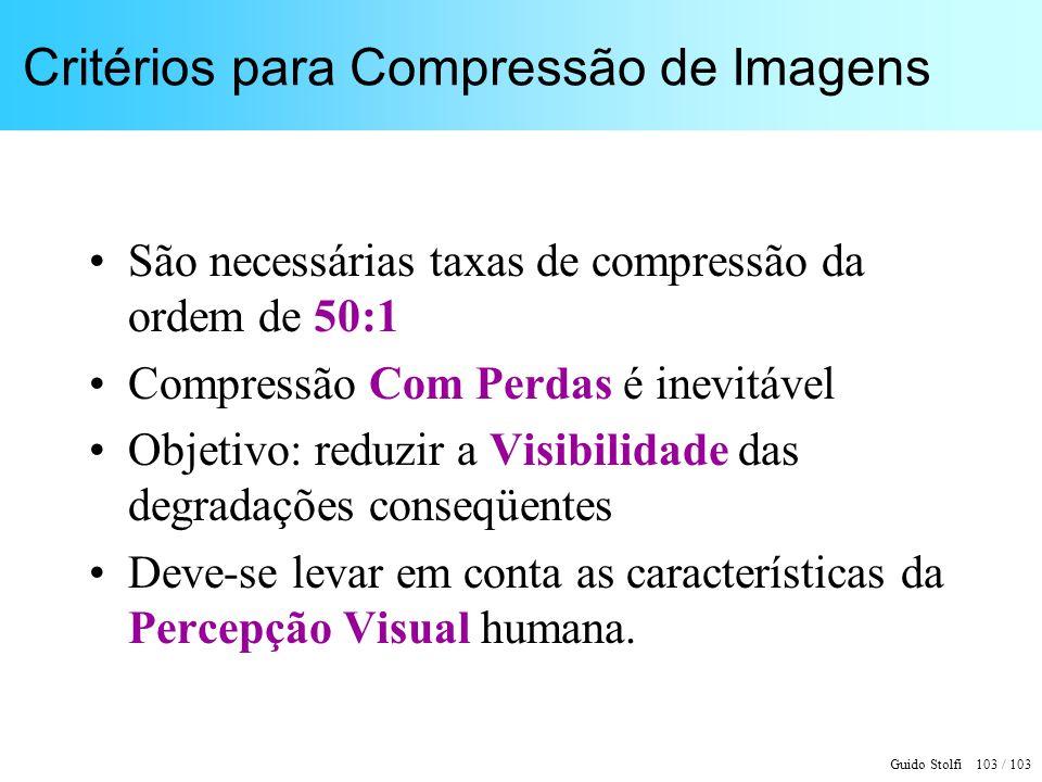 Critérios para Compressão de Imagens