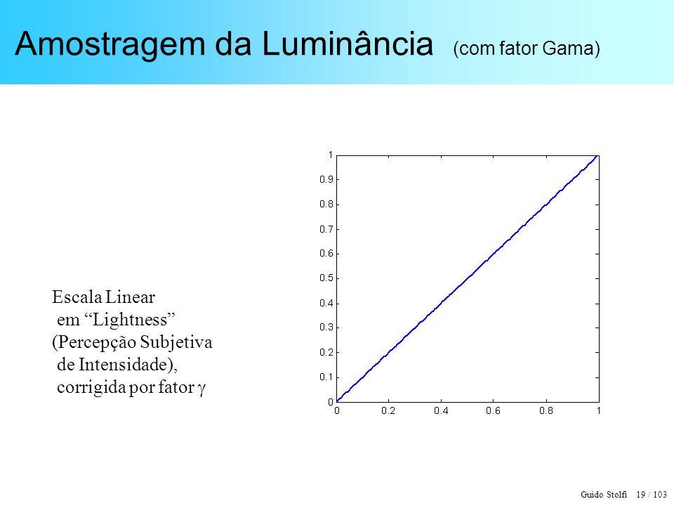 Amostragem da Luminância (com fator Gama)