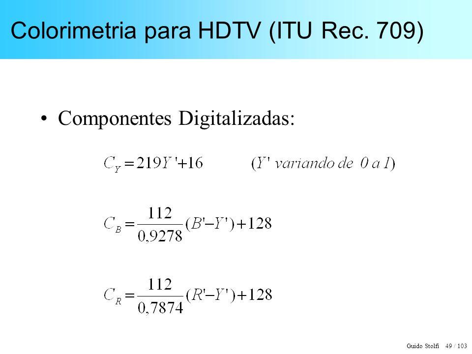 Colorimetria para HDTV (ITU Rec. 709)