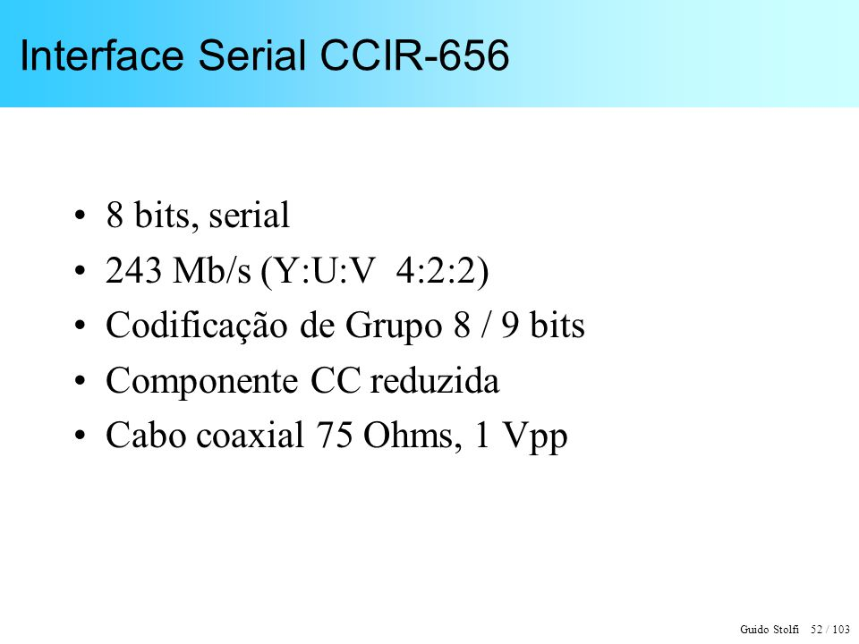 Interface Serial CCIR-656