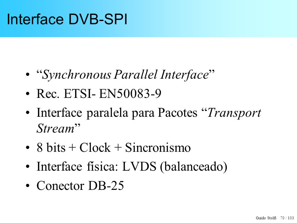 Interface DVB-SPI Synchronous Parallel Interface