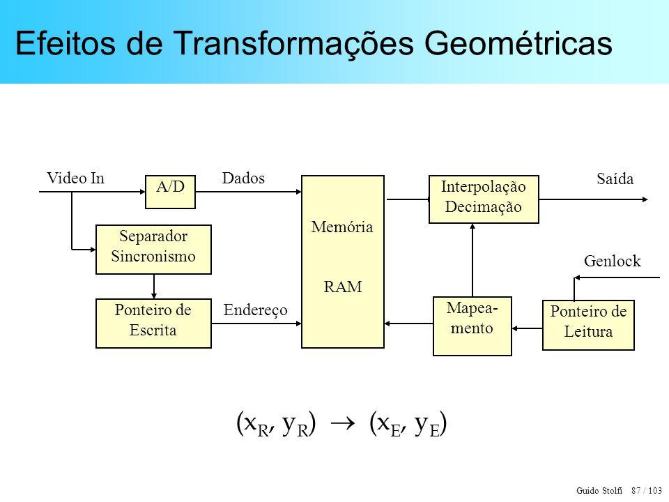Efeitos de Transformações Geométricas