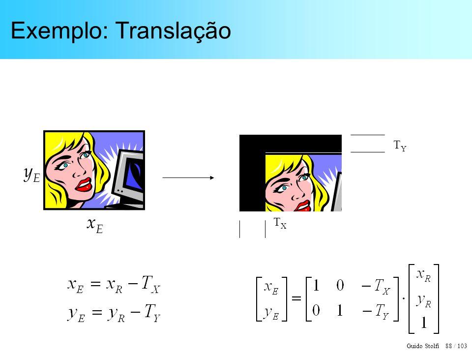 Exemplo: Translação TY TX yE xE