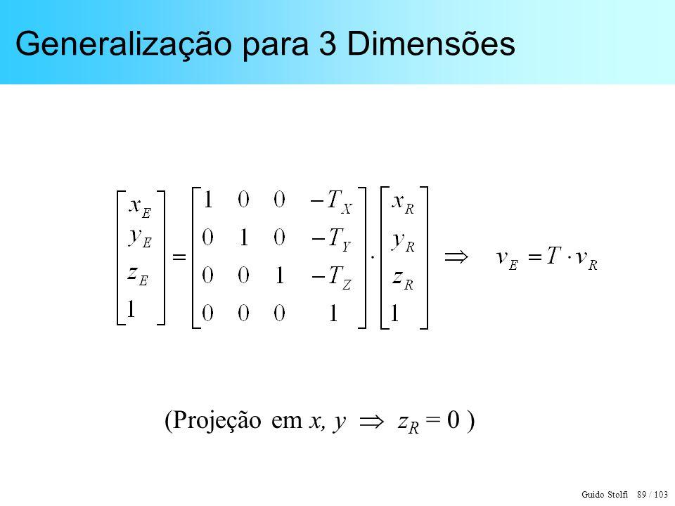 Generalização para 3 Dimensões