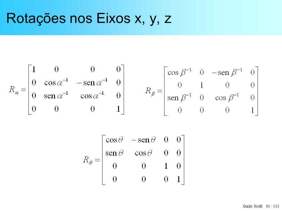 Rotações nos Eixos x, y, z