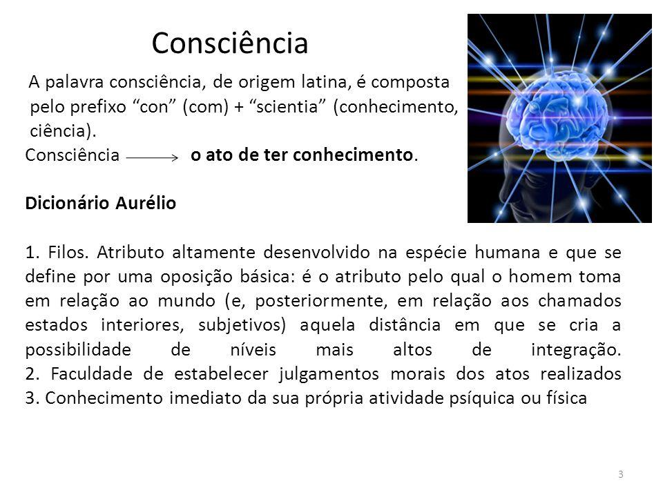 Consciência ciência). Consciência o ato de ter conhecimento.