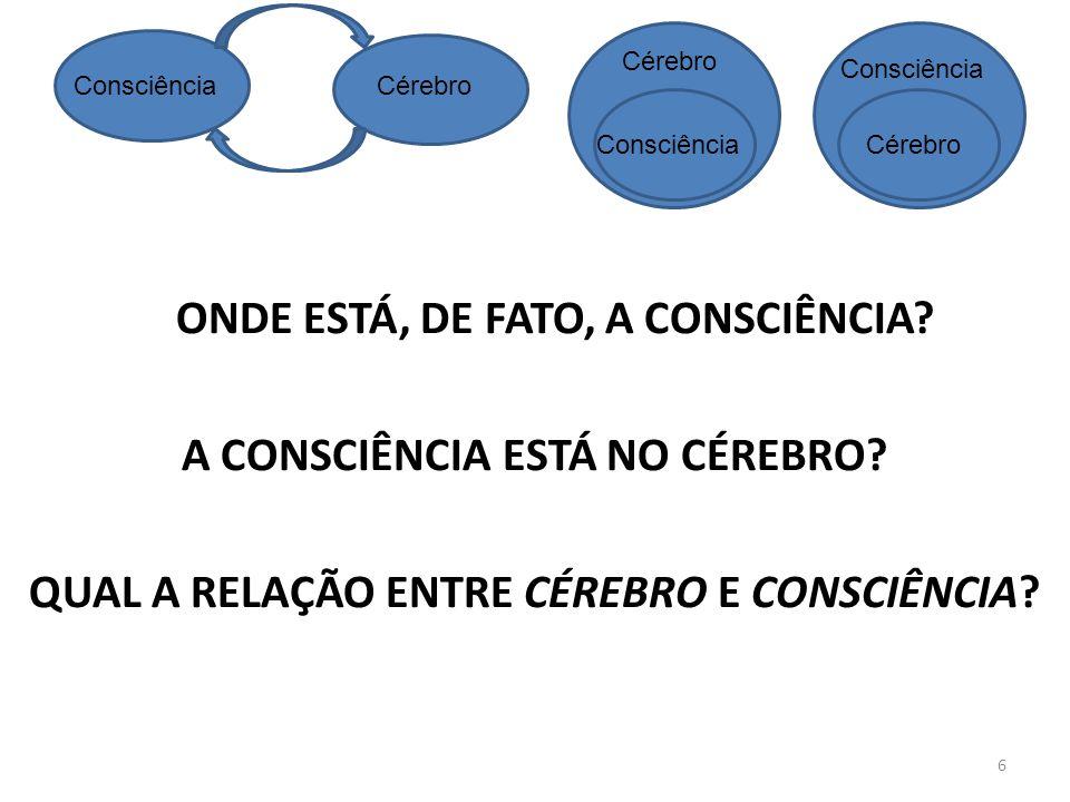 Cérebro Consciência. Consciência. Cérebro. Consciência. Cérebro.