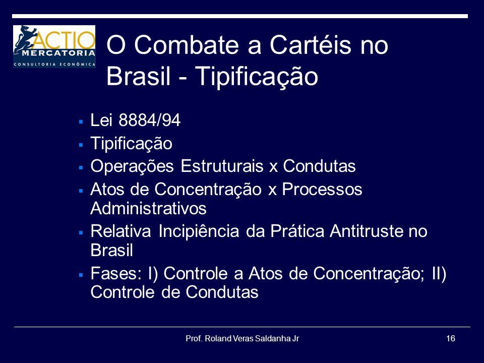 O Combate a Cartéis no Brasil - Tipificação