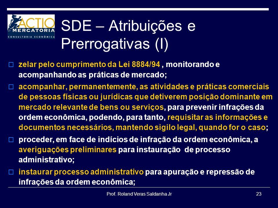 SDE – Atribuições e Prerrogativas (I)