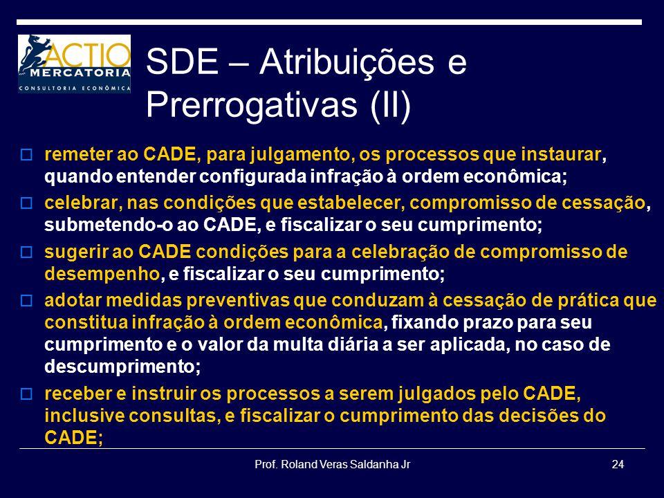 SDE – Atribuições e Prerrogativas (II)