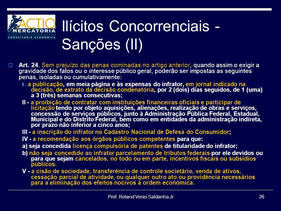 Ilícitos Concorrenciais -Sanções (II)