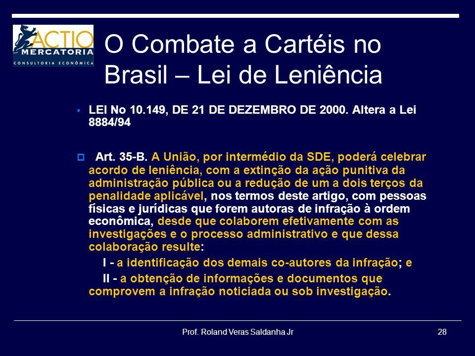 O Combate a Cartéis no Brasil – Lei de Leniência