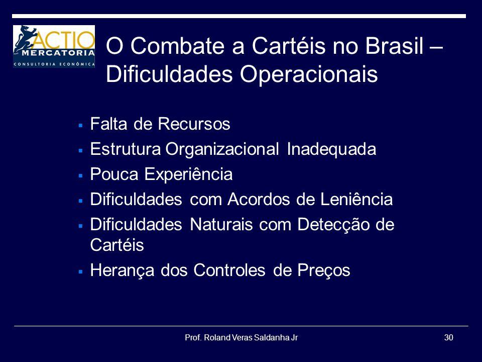 O Combate a Cartéis no Brasil – Dificuldades Operacionais