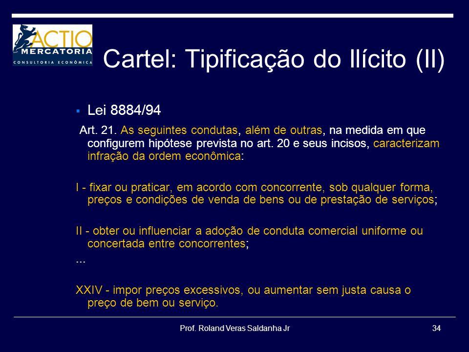 Cartel: Tipificação do Ilícito (II)