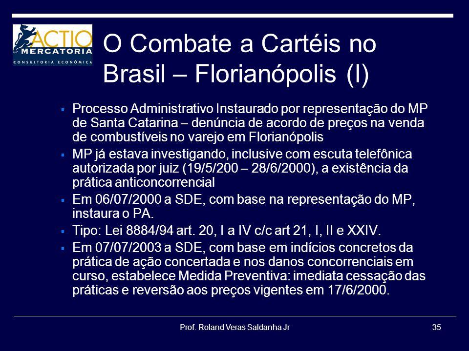 O Combate a Cartéis no Brasil – Florianópolis (I)