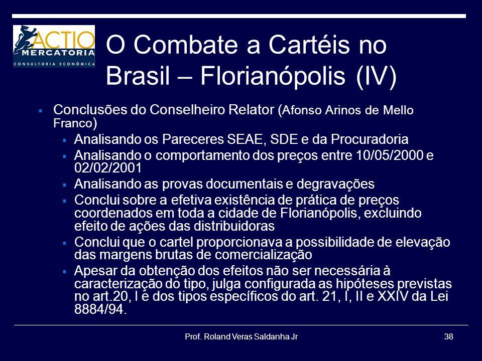 O Combate a Cartéis no Brasil – Florianópolis (IV)