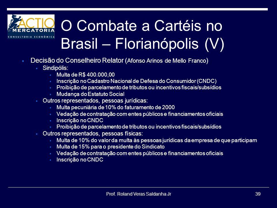 O Combate a Cartéis no Brasil – Florianópolis (V)