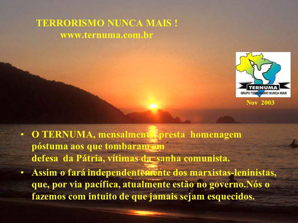TERRORISMO NUNCA MAIS ! www.ternuma.com.br
